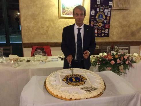 Il presidente del Lions Club Pescia Francesco Bellandi