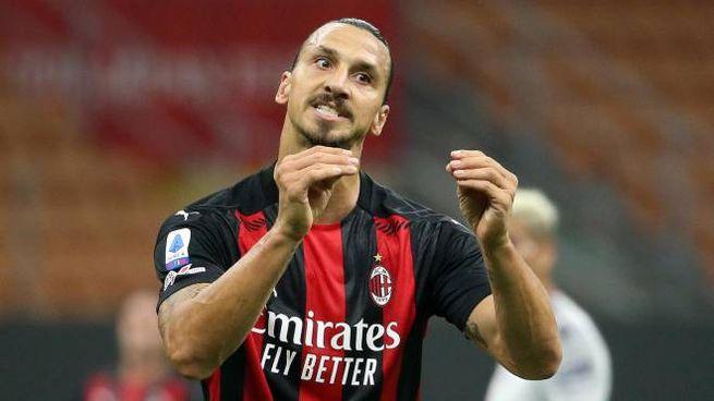 Zlatan Ibrahimovic, stella del Milan, ha contratto il Covid-19 (Ansa)