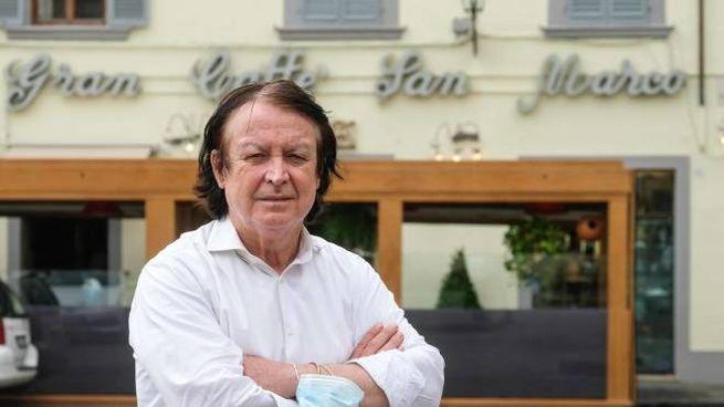 Gualserio Zamperini, titolare del Gran Caffé San Marco (New Press Photo)