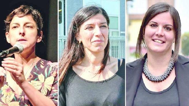 Da sinistra, Serena Spinelli, Monia Monni, Alessandra Nardini