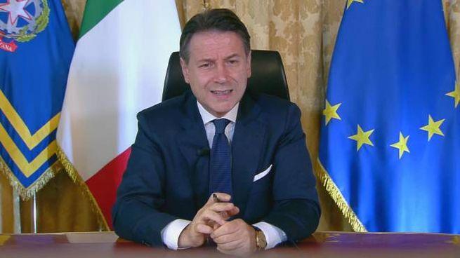 Intervento del premier Giuseppe Conte al Festival dell'Economia di Trento (Ansa)