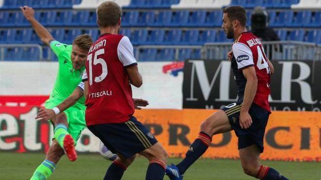 Ciro Immobile in gol contro il Cagliari (Ansa)