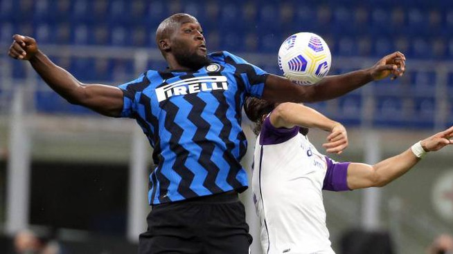 Romelu Lukaku contro la Fiorentina (Ansa)
