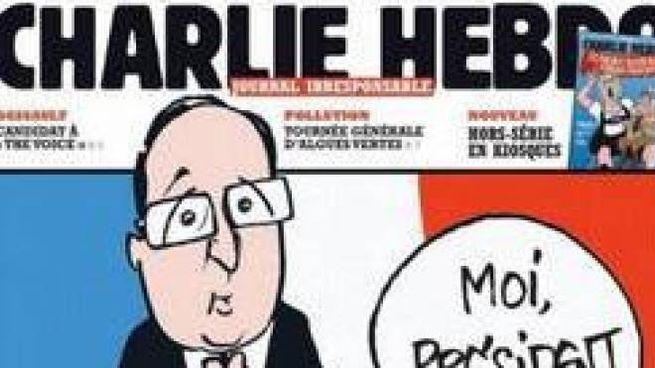 Una copertina del giornale satirico Charlie Hebdo (Ansa)