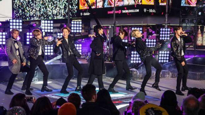I BTS durante il capodanno 2020, a New York