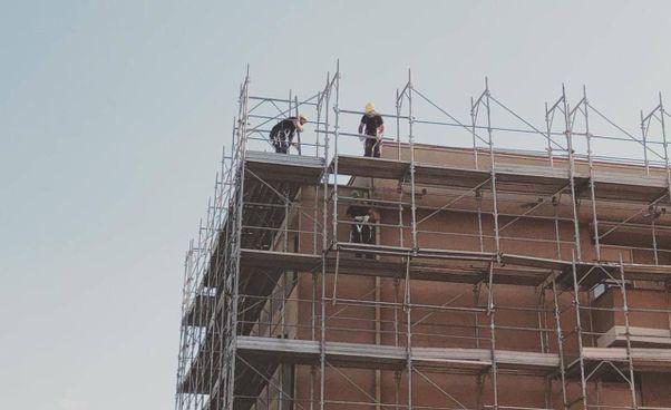 """I lavori nel condominio folignate, primo cantiere del """"bonus 110%"""""""
