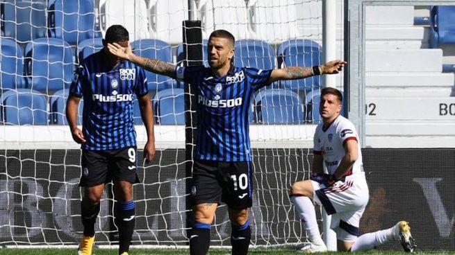 Atalanta-Cagliari: l'esultanza di Gomez (Ansa)