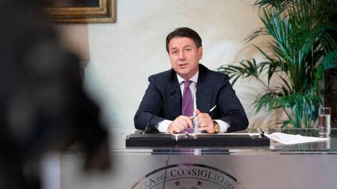 Il presidente del Consiglio Giuseppe Conte (foto Ansa)