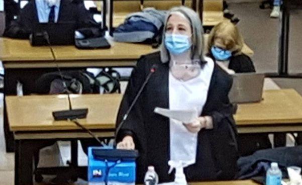 Il Pubblico Ministero della Dda di Bologna Beatrice Ronchi, impegnata in una requisitoria