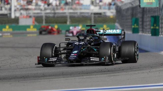 Lewis Hamilton è a una vittoria dal record di Schumacher (Ansa)