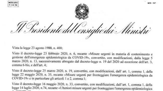 Coronavirus, il Dpcm del 13 ottobre 2020