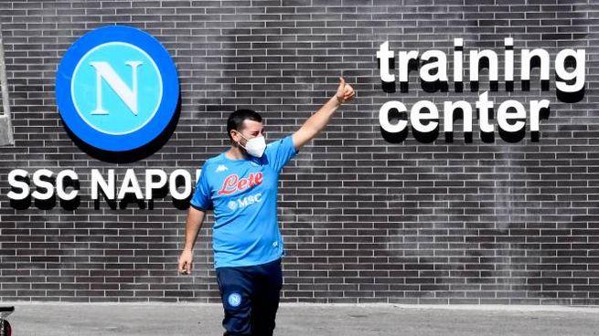 Il Training Center di Castel Volturno (Ansa)