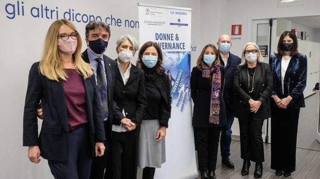 """Il """"via"""" al progetto """"Donne & Governance"""": i presenti al primo incontro (New Press Photo)"""