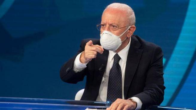 Il governatore della Regione Campania, Vincenzo De Luca (Ansa)