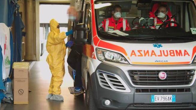 Ambulanza adibita al trasporto di pazienti covid