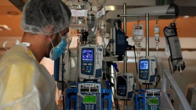 Coronavirus, un operatore sanitario in ospedale (Ansa)