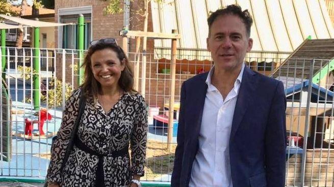 L'assessore Sandra Munno con il sindaco Michele Conti