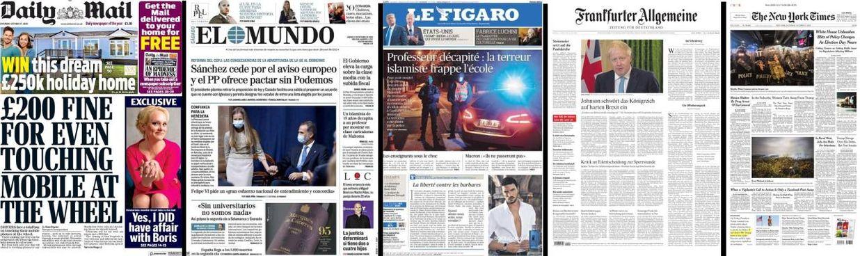Coronavirus, le prime pagine dei giornali internazionali