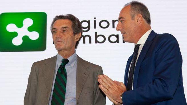 Attilio Fontana e Giulio Gallera (foto di repertorio)