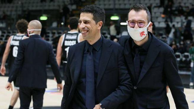 Il sorriso di Antimo Martino, coach della Unahotels Reggio Emilia