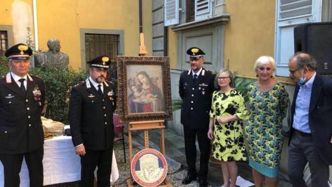 La restituzione del dipinto rubato al Museo. Casa Rodolfo Siviero