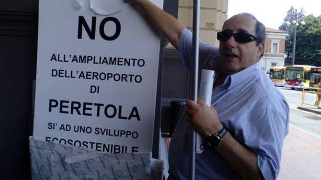 """Il presidente del comitato """"No Aeroporto"""", Paolo Paoli"""