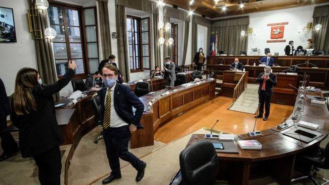 L'aula del consiglio regionale (New Press Photo)