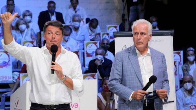 Matteo Renzi ed Eugenio Giani durante la campagna elettorale