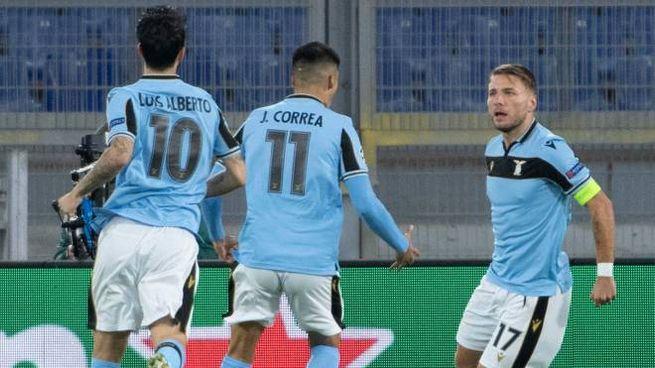 Ciro Immobile ha aperto le marcature nel 3-1 della Lazio sul Dortmund (Ansa)