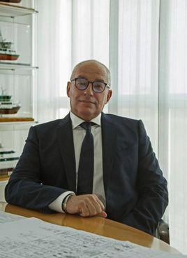 AL TIMONE Paolo Duò, presidente del Cantiere Navale Vittoria