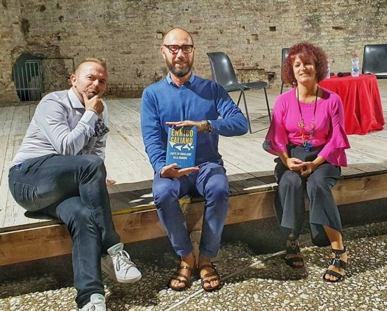 Francesco Rapaccioni, Elisabetta Baldassarri e Enrico Galiano nella passata edizione