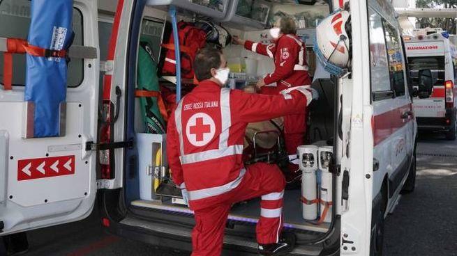 Ambulanza fuori da un ospedale