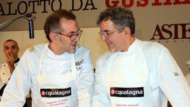 Massimo Bottura e Mauro Uliassi, premiati dalla guida 50 Top Italy (Ansa)