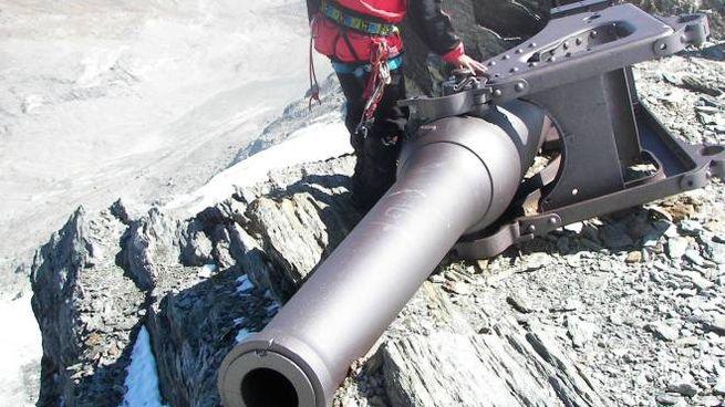 Uno dei tre celebri cannoni che si trovano ancora oggi in buono stato non distante dal rif