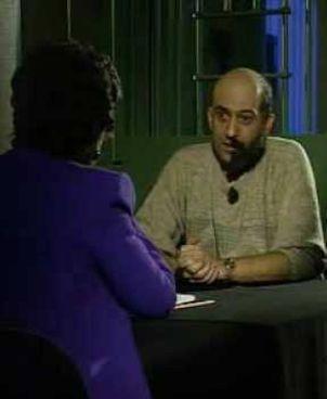 Marco Mariolini, oggi 61 anni, durante l'intervista di Franca Leosini per 'Storie maledette' sulla Rai