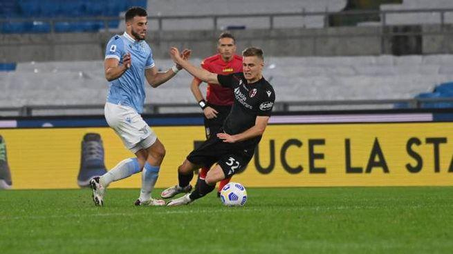 Lazio Bologna, Svanberg protagonista di un duello a centrocampo (Ansa)