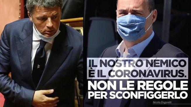 Renzi e Zingaretti (Ansa)