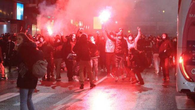 Violenta protesta a Milano