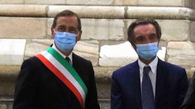Il sindaco Giuseppe Sala e il governatore Attilio Fontana