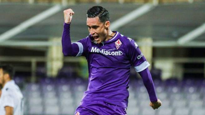 Fiorentina-Padova, l'esultanza di Callejon (foto Germogli)