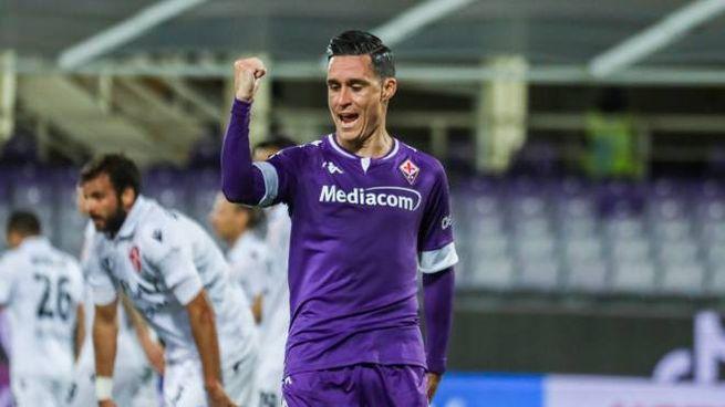 Coppa Italia, Josè Maria Callejon, a segno nel 2-1 della Fiorentina sul Padova