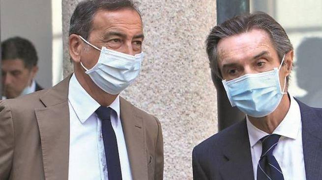 Il sindaco di Milano Sala e il presidente della Regione Lombardia Fontana