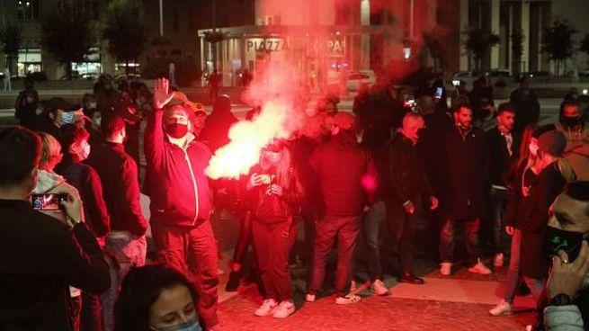 Manifestazione alla Spezia contro il nuovo dpcm (Frascatore)