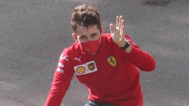 Il pilota della Ferrari Charles Leclerc (Isolapress)