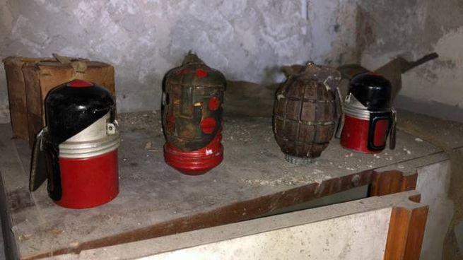 Le quattro bombe (tre italiane, una inglese) ritrovate e fatte brillare