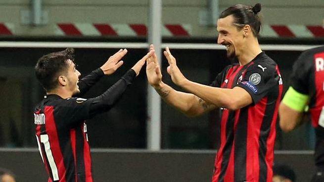 Ibrahimovic e Diaz (ANSA)