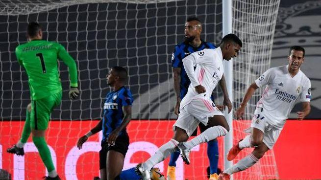 Real Madrid-Inter, il gol vittoria di Rodrygo (Ansa)