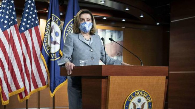 La speaker della Camera Nancy Pelosi (Ansa)