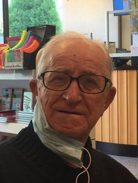 Mario Ambrosini 83enne elettricista in pensione, residente a Cercino e protagonista della disavventura: multa da 39 euro perché senza biglietto sul bus diretto nella città del Bitto