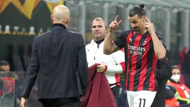 Zlatan Ibrahimovic subito dopo la sostituzione (Ansa)